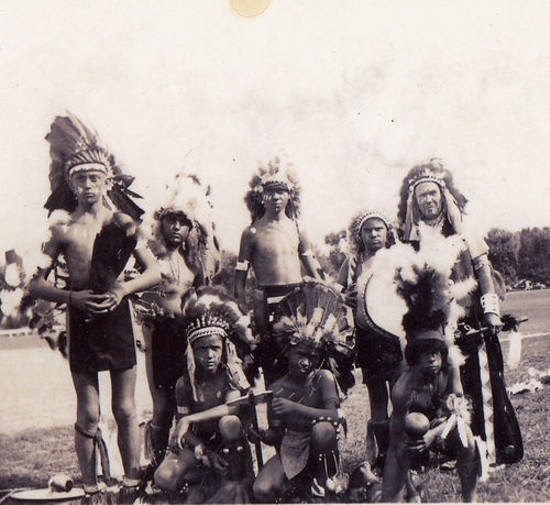 Thomas Airis (far right) and members of his dancing troupe. - COURTESY OF KEVIN AIRIS.