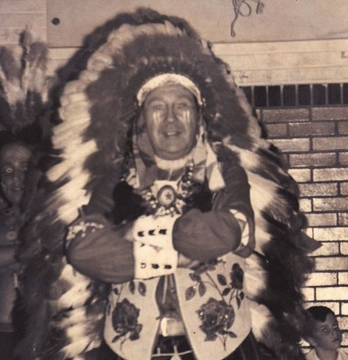 Thomas Airis, wearing a headdress and his favorite beaded vest. Both are still missing. - COURTESY OF KEVIN AIRIS