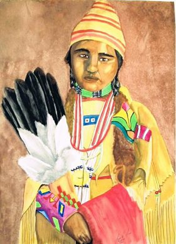 Native American Girl - FRAMED CONCEPTS