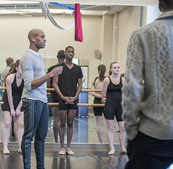 Antonio Douthit-Boyd instructs a recent rehearsal at COCA. - KELLY GLUECK