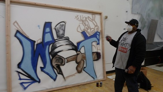 """Brooklyn painted over this with the message """"Didn't Bring My A Game"""" and lost in the second round - KEEGAN HAMILTON"""
