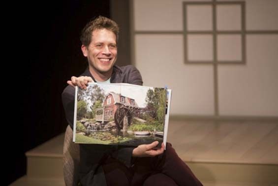 Jeremy Webb in the Rep's current one-man show, Buyer & Cellar. - JERRY NAUNHEIM JR.