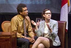 Reginald Pierre and Emily Baker in Steve Karp's Rubbas. - JOHN LAMB