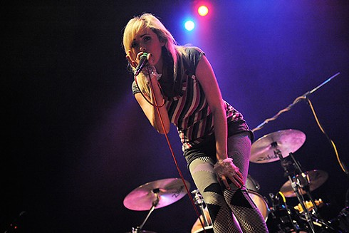 Katie White of the Ting-Tings on Friday, April 3 at the Pageant. - TODD OWYOUNG