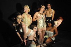 The cast of the NonProphet's production of Cabaret.