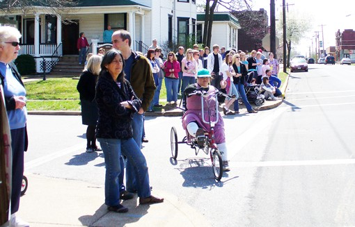 These are the folks who've walked, driven and, yes, biked their way into Maplewood for a glimpse of Hollywood.