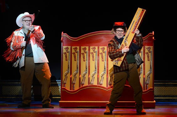 Ralphie and his BB gun in A Christmas Story, The Musical. - GARY EMORD NETZLEY
