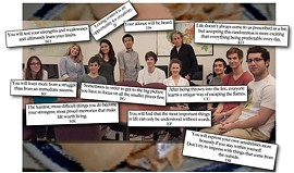 On the last day of the semester, Marton asked his students to tell him what they had learned. They created this collage. - KIVANC DUNDAR