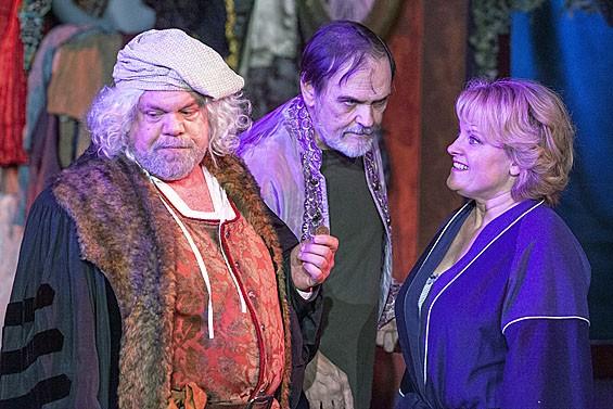 Greg Johnston, John Contini and Kim Furlow in Rembrandt's Gift. - JOHN LAMB