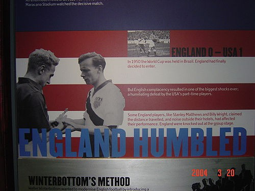 From Britain's National Football Museum: A souvenir of the greatest moment in St. Louis soccer history...until maybe 2018. Or 2022. - FLICKR.COM/PHOTOS/36278964@N00