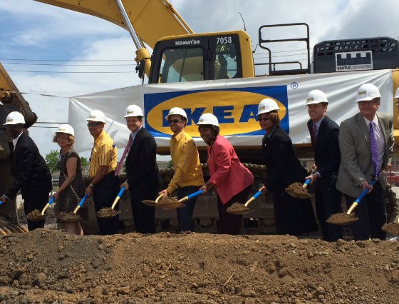 Breaking ground at the IKEA store. - LINDSAY TOLER