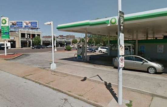 Olive Street gas station. - VIA GOOGLE MAPS