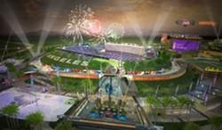 Rendering for Los Angeles' proposed stadium.