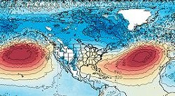 NASA data showed unusually warm air over the northern Pacific and Atlantic Oceans this summer. - NASA.GOV