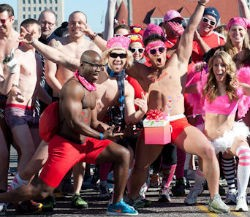 Big photos below. - SLIDESHOW: CUPID'S UNDIE RUN