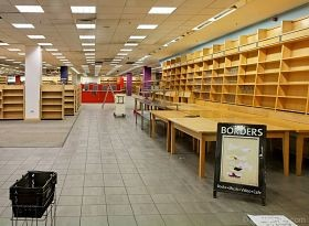 Is there anything sadder than an empty bookstore? - IMAGE VIA