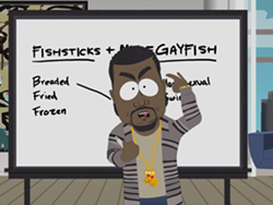 Kanye does not put Asian Carp in his mouth. - IMAGE VIA