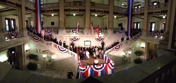Inauguration yesterday. - VIA TWITTER