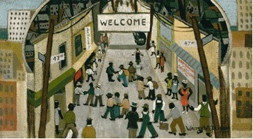 Bronzeville c. 1940, from Important 20th Century African-American Works of Art from the Parkway Collection. - WALTER ELLISON
