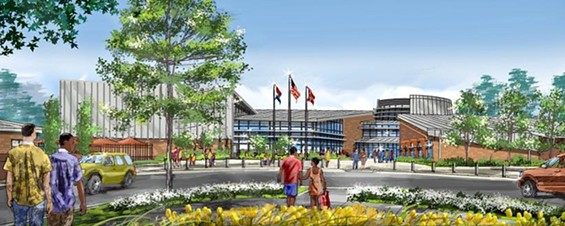 A rendering of the proposed rec-plex.