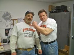 Camel Towing founder Mike Christopher with fan Tony Twist. - FACEBOOK