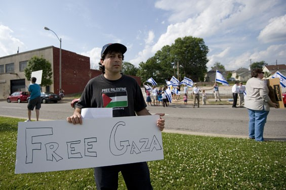 """I am a Jew and I find it repulsive what's being done in my name, the murder of human rights activists bringing aid to people under siege,"" said Michael Berg of St. Louis."