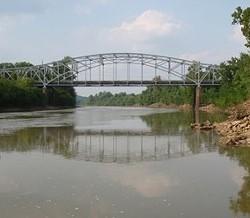 Highway 21 bridge. - VIA