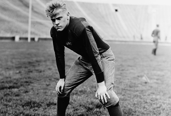 Gerald Ford in UMich blue.