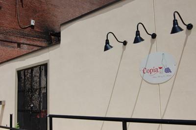 The rear door of Copia on Friday.