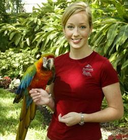 Virginia Busch during her days with Busch Gardens and SeaWorld. - SWBG-CONSERVATIONFUND.ORG