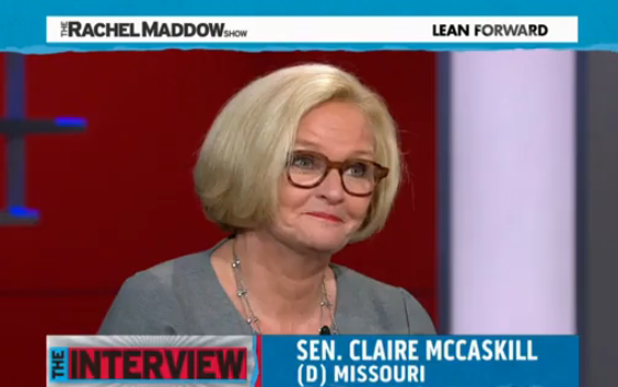Sen. Claire McCaskill gets a little uncomfortable when Rachel Maddow asks if she's running for president. - VIA