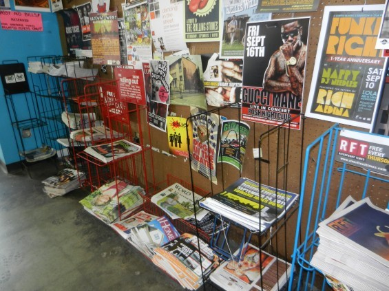A subsidiary of Lee Enterprises hopes to take over management of freebie publication racks, like this one at Vintage Vinyl in the Delmar Loop.