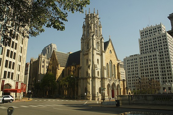 Christ Church Cathedral in downtown St. Louis will hold a 24-hour prayer vigil after the grand jury finishes its investigation into Ferguson officer Darren Wilson. - MATTHEW BLACK VIA FLICKR