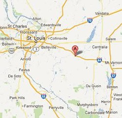 Okawille Township lies approximately 55 miles southeast of downtown St. Louis.