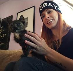 One of Cloud's dirty deeds: Pet a kitty. - JENN CLOUD