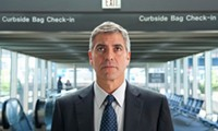 If you get this gig, this could be you, free and happy and on the loose in the airport. Except you probably won't look like Clooney. - PARAMOUNT PICTURES