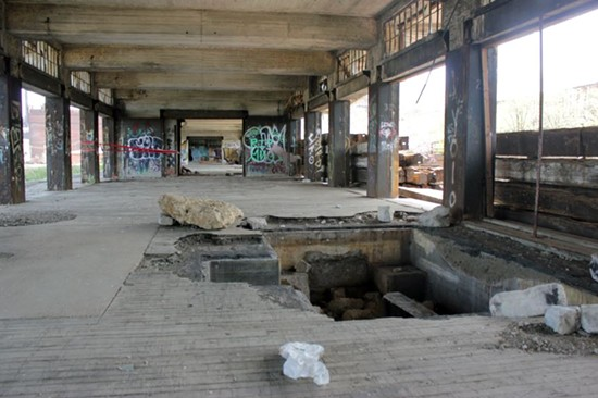 That pit in the floor probably contained the loading dock's scale. - DANNY WICENTOWSKI