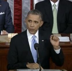 President Barack Obama gives the 2014 State of the Union address. - YOUTUBE