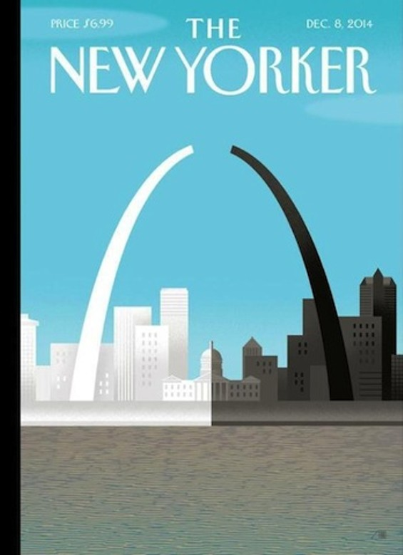 The New Yorker  December 8 cover. - IMAGE COURTESY OF BOB STAAKE