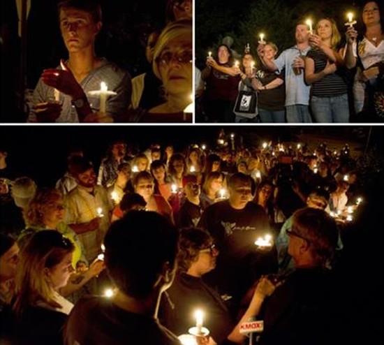 Brownie's vigil last week. - VIA STRAY RESCUE / FACEBOOK