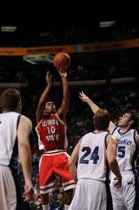 Illinois State's Dom Johnson in last year's MVC Tournament. - PHOTO BY DOUG DEVOE