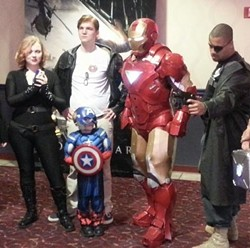 Iron Man costumes at Capital 8 Theaters. - VIA FACEBOOK
