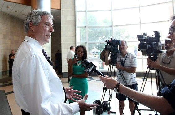 St. Louis County Prosecuting Attorney Bob McCulloch is leading the case of Darren Wilson. - UPI/BILL GREENBLATT