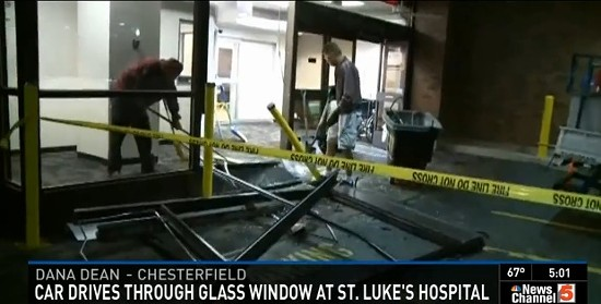 Hospital damage early this morning. - VIA KSDK