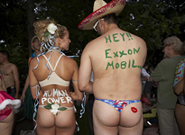 The body painting begins at 7 p.m., the ride starts at 9 p.m. - PHOTO: STEVE TRUESDELL