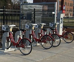 Bike-sharing station in Denver. - VIA MIKESHOUP