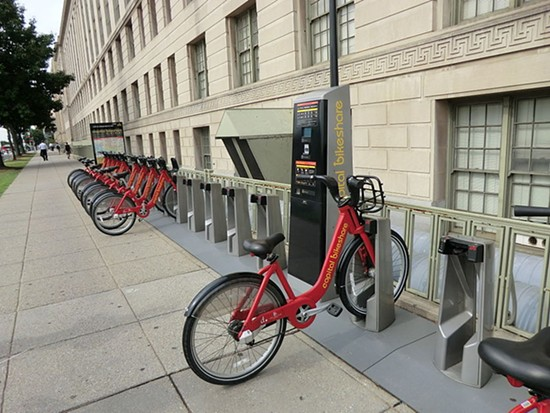 Bike-sharing in Washington, D.C., one of the first cities in the U.S. to implement this. - VIA BENOÎT PRIEUR