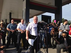 Ferguson police chief Tom Jackson resigned after revelations about the city's policing tactics. - CHAD GARRISON