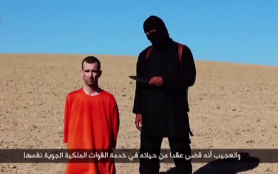 A screengrab from a video from ISIS showing the execution of British aid worker David Haines.