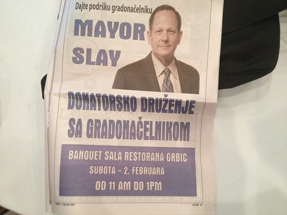 An ad of support from a local newspaper. - SAM LEVIN